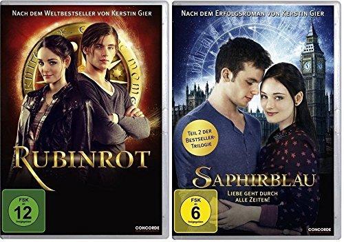 Preisvergleich Produktbild Rubinrot und Saphirblau - Teil 1 & 2 der Edelsteintrilogie im Set - Deutsche Originalware [2 DVDs]