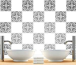 Sticker autocollant carrelage d coratif pour salle de bain - Autocollant pour carrelage cuisine ...