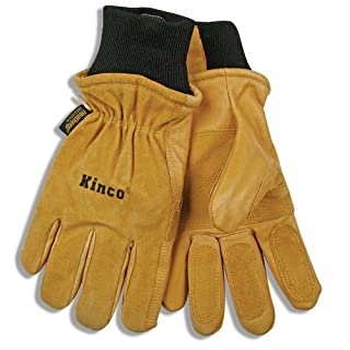 Kinco 901 Heatkeep Thermal Lining Pigskin Leather Ski Drivers Glove, Work, Small, Golden (Pack of 6 Pairs) by KINCO INTERNATIONAL