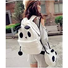 Super cute! Set of 2 parent and child wind panda backpack fur pouch (japan import)