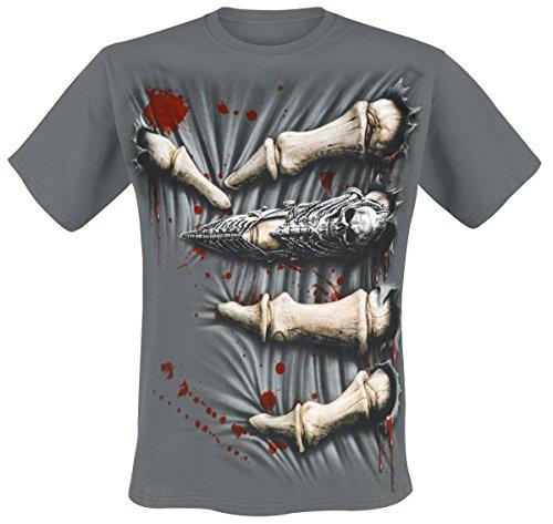 Spiral Death Grip T-Shirt grigio L