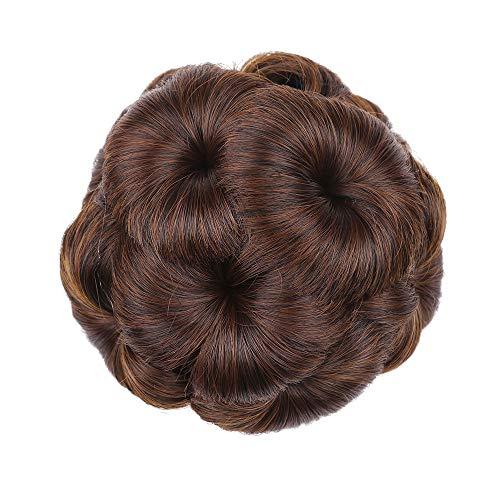 Hair Bun Extensions Lockiges Haar Chignons Haar Blume Form Haarteil Haarteil Haarband Pferdeschwanz Extensions,4 -