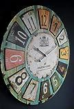 Orologio da parete stile romantico rustico 60cm Vintage Look anticato II 73