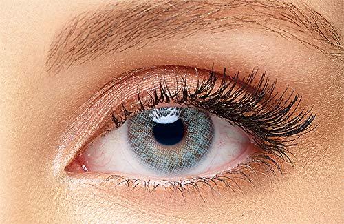 """Solotica natürliche farbige Kontaktlinsen Tageslinsen\""""Cyan Blue\"""" aus Kollektion\""""Aquarella\"""" - Farblinsen, ohne Dioptrien Stärke - 5 Paar (10 Stück)"""