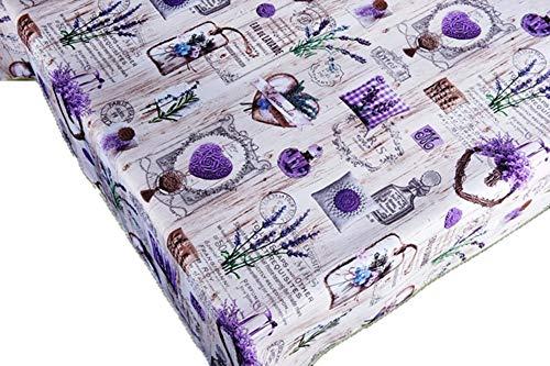 CIRAD Set Nappes Paris Lavande 100 x 148 cm gaufree Anti-Taches Couleurs Décoration de Maison de Printemps
