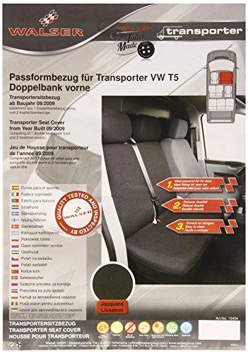 Preisvergleich Produktbild Walser 10454 Volkswagen T5 Transporter Autositzbezüge für Doppelbank vorne aus strapazierfähigem Stoff