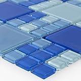 Glasmosaik Fliesen Blau Hellblau Mix