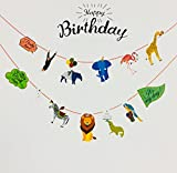 #9: Party Favors Jungle Theme Banner (white)