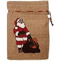Idena Jutesack Weihnachtsmann-Sack Santa Nikolaus Geschenke Beutel 25x35 cm