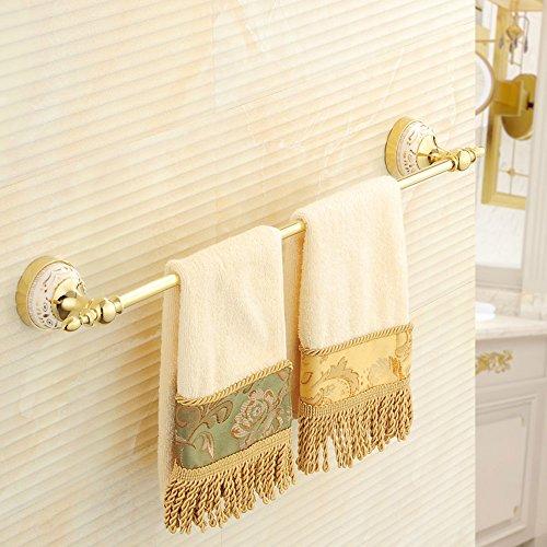 FUFU Barres de Serviette Gold All-cuivre Barre à serviette Barre simple étagère de toilette Porte-serviettes Salle de bains Salle de bains Quincaillerie Pendentif (64cm)