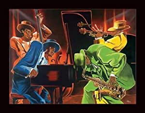 Steven Johnson – Ambiance jazz Impression d'art Print (71,12 x 55,88 cm)