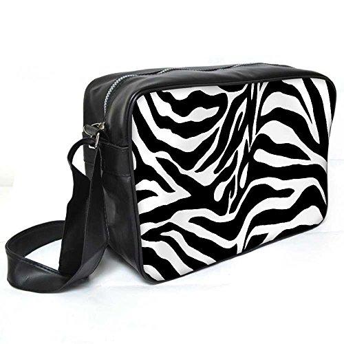 Snoogg Zebra Haut Leder Unisex Messenger Bag für College Schule täglichen Gebrauch Tasche Material PU (Gucci Canvas Tote Handtasche)