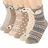 Women Cute Cartoon Socks - Casual Cotton Animal Pattern Crew Novelty Girls Socks