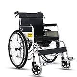 T-Rollstühle Dickes Stahlrohr des Rollstuhls, älterer untauglicher Roller, Faltbar, Toiletten-Funktion