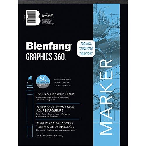Unbekannt Bienfang Grafiken 360Papier Pad, weiß, 9 by 12-Inch, 50 Sheets -