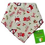 Dimples Hundehalstuch - Weihnachten Weihnachtsmann Party (Handgemacht für alle Größen und Rassen) 45cm