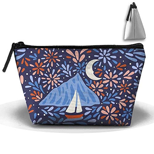 Fireworks In The Sky Makeup Organizer Pouch Cosmetic Bag Storage for Women