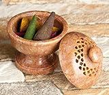 Steindöschen ca 5 x 6 cm, Gefäß, Halter für Räucherkegel, Räucherhalter, Räucherkegelhalter