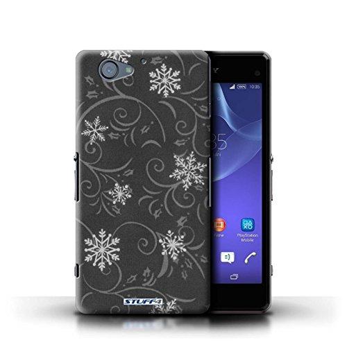 Kobalt® Imprimé Etui / Coque pour Sony Xperia A2 / Bleu conception / Série Motif flocon de neige Noir