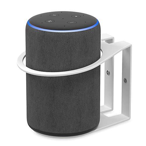 MDCASA Universal Wandhalterung für Amazon Echo Plus 2. und 1. Generation - Google Home - Smart Speaker bis 100 mm Durchmesser - Halterung Wand, weiß Flip Plus Audio