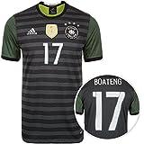 adidas DFB Trikot Away EM 2016con nombre y número del Jugador (Jérôme Boateng), gris / blanco / verde