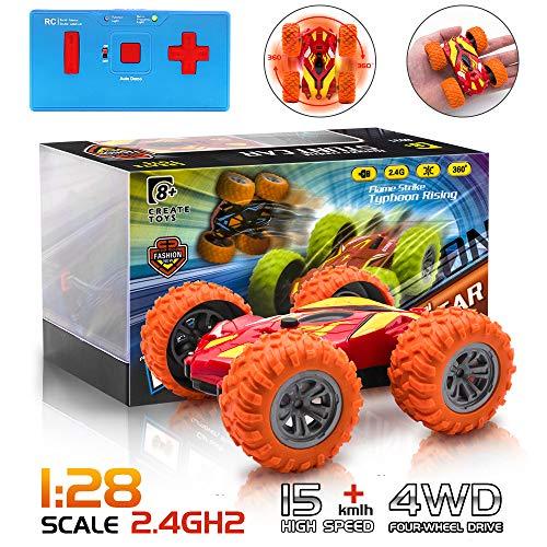Mini auto RC, auto telecomandata a vibrazione su due lati, auto ricaricabile a 360 ° con rotazione, auto 2.4G ad alta velocità da corsa per bambini