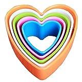 Plätzchen-Form-Backen-Form von Obst und Gemüse Herz