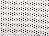 ab 1m: Viskose Mousseline, kleine Punkte, schwarz auf