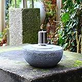 Dszapaci Öllampe Stein Outdoor Garten Fackel Öl Beton Feuerkugel mit Docht Stein Gartendeko Terrasse Draussen Party Event (B1)