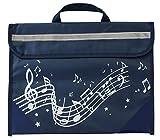 Musicwear: Sacoche De Musique Portée Onduleuse (Bleu Marine) Accessoire