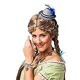 Bayern Mini-Hut Froni grau/blau mit Spange Sepplhut Oktoberfest Dirndlhut