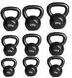 Kettlebell Cast Iron Kettlebells 4kg to 50kg Gym Quality Fitness Kettlebells FREE KETTLEBELL WORKOUT DVD