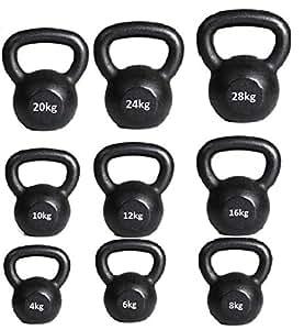 Kettlebell Cast Iron Kettlebell 4kg 6kg 8kg 10kg 12kg 16kg 20kg 24kg 28kg 32kg 36kg 40kg 44kg 50kg Gym Quality Fitness Exercise Kettlebells (40 Kilograms)