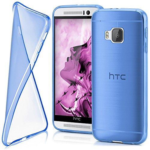 Cover di protezione HTC One M9 Custodia Case silicone sottile 0,7mm TPU | Accessori Cover cellulare protezione | Custodia cellulare Paraurti Cover Traslucida Trasparente ROYAL-BLUE