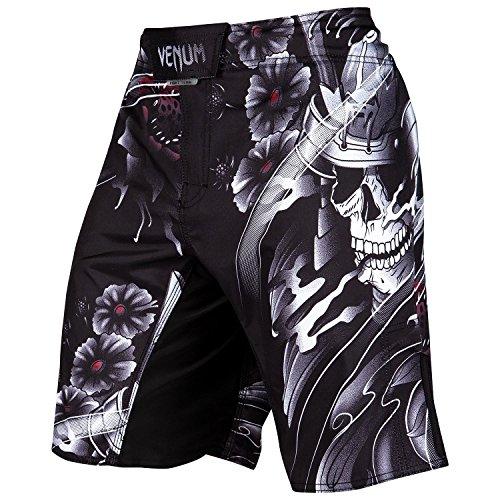 Venum Herren Samurai Skull Fightshorts, Schwarz, L (Schwarz Kampf Shorts)