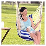 Upgraded Comfortable Safety Hanging Cloth Chair Hammock Swinging Cloth Seat Fabric Swing Chair for Garden Dorm | Max load 150 kg | Free 2*2M Hanging Ropes