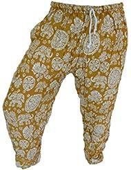 by soljo - Pantalon pantalons de loisirs sportifs pantalon Elephant jaune