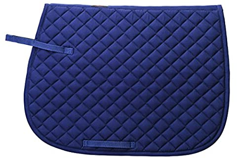 Weaver Leather Quilted English Saddle Pad, Navy