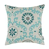 CaliTime Cushion Covers Cases Poly Faux Linen Bolster Pillows Shells Bench Sofa, Three-tone