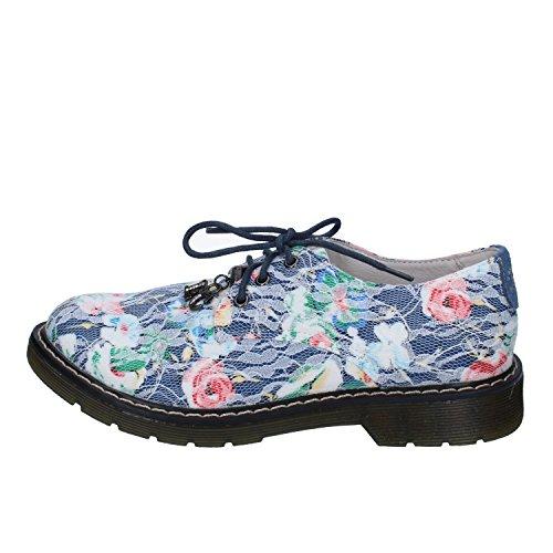 Enrico Coveri Elegante Schuhe Baby Mädchen Textil blau 38 EU