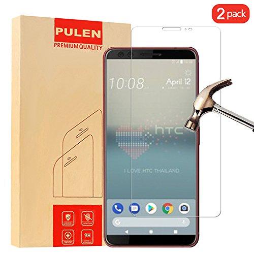 [2 Pack] HTC U12 + (Plus) Protecteur D'écran, PULEN Film Protection en Verre Trempé écran Protecteur [Anti Rayures] [Sans Bulles D'air] Digitale HD Film Tempered Glass pour HTC U12 + (Plus)