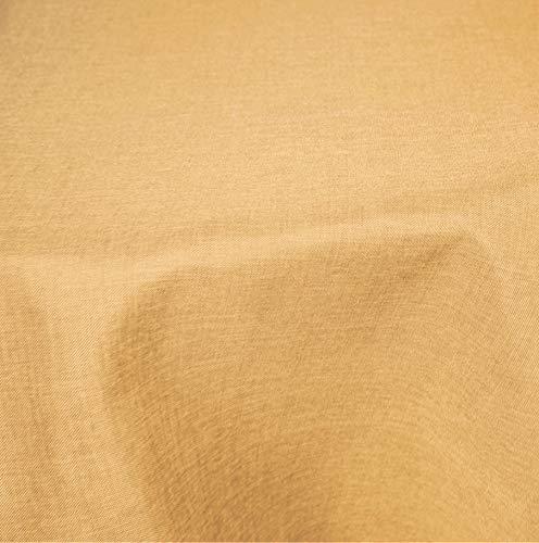 Tischdecke rund 220 cm Ø beschichtet Struktur Leinen-Optik Flecken und Wasser abweisend Lotuseffekt #1224 (gelb) -
