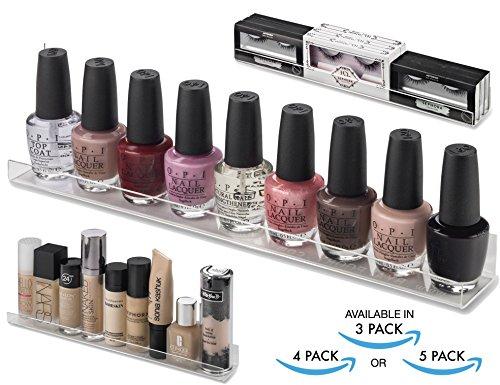 byAlegory Acryl Wandregal Makeup Organizer 12 Zoll Regal für Nagellack | Montagezubehör (3 Stück) -