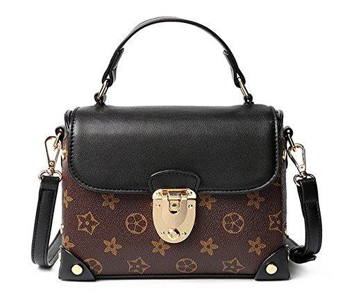 Xinmaoyuan borse Donna Primavera ed Estate Stampa Borsa confezione piccola borsa a tracolla trasversale femmina sacco bag Pu trasversale di blocco quadrato piccolo sacchetto Rosa