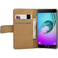 Membrane Coque Samsung Galaxy A5 (2016) Etui Noir Portefeuille Flip Wallet PU Cuir Case Cover Housse