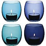 LSA Coro Teelichthalter International 6,5 cm, 4 Stück, blau