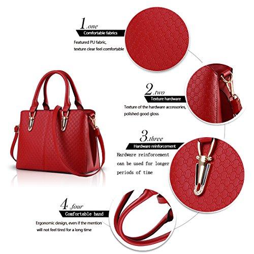 Sunas 2017 nuova borsa semplice portafoglio La signora borse in rilievo spalla casuale della borsa del messaggero della borsa vino rosso