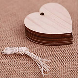 LEEDY 10 Pieces DIY Wooden Pendant Ornaments for Christmas Tree and Party Decorations, Xmas Decor Baubles Pendant Ornament Decorations Accessories