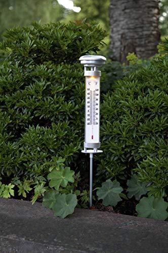 Best Season Thermometer außen mit LED beleuchtet 57x9cm Außenthermometer