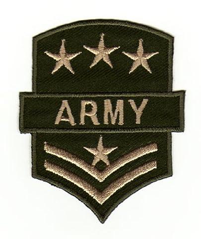 Écusson bügelbild patch iron on patchs motif militaire de l'armée